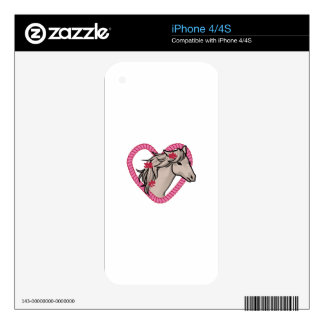 Horse In Rope Heart Decals For iPhone 4S