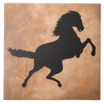 HORSE IN SILHOUETTE TILE