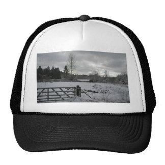 Horse in Snowy Field Trucker Hat