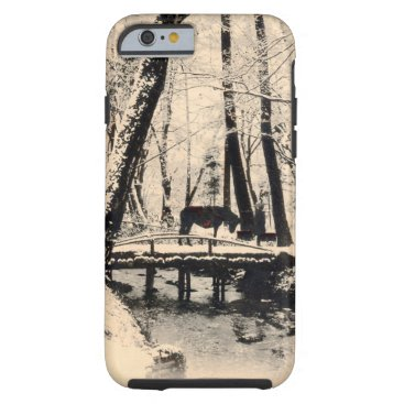 Horse in Snowy Forest Tough iPhone 6 Case