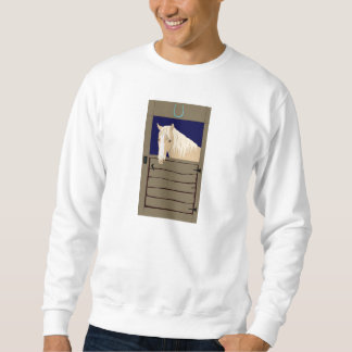 Horse In Stall Pull Over Sweatshirts