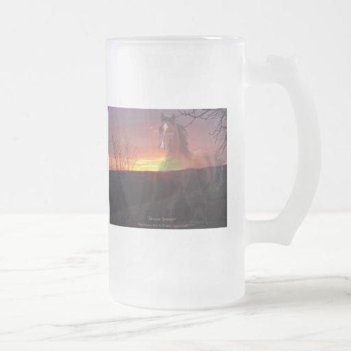 Horse in Sunrise Mugs
