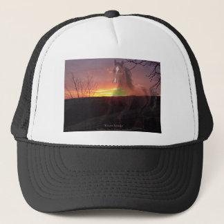 Horse in Sunrise Trucker Hat