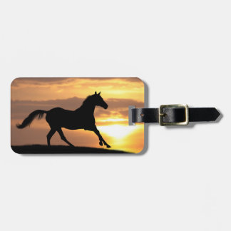 Horse In Sunset Luggage Tag