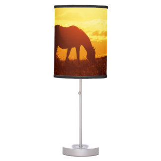 Horse in Sunset Table Lamp