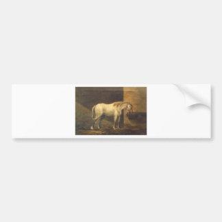 Horse in the Barn by Gheorghe Tattarescu Bumper Sticker