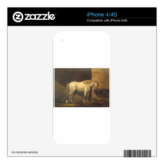 Horse in the Barn by Gheorghe Tattarescu Skins For The iPhone 4