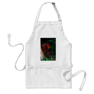 Horse in the forest adult apron