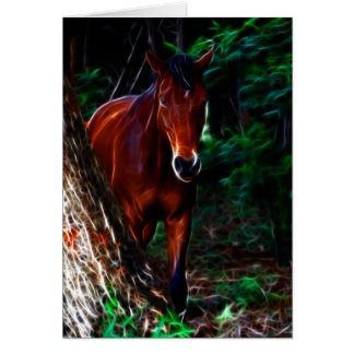 Horse in the forest card