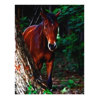 Horse in the forest flyer