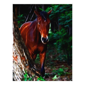 Horse in the forest letterhead template