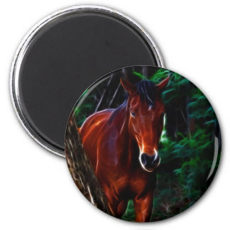 Horse in the forest refrigerator magnet