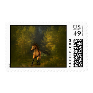 Horse in the Forest Postage