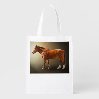 HORSE IN THE LIGHT GROCERY BAG