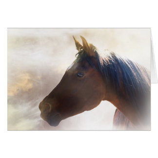 Horse in the mist sympathy card card