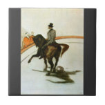 Horse in the Ring by Toulouse-Lautrec Ceramic Tiles