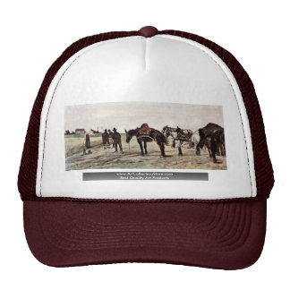 Horse In The Roman Countryside And Peasants Mesh Hats