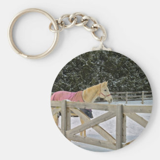 Horse in the snow series 4 keychain