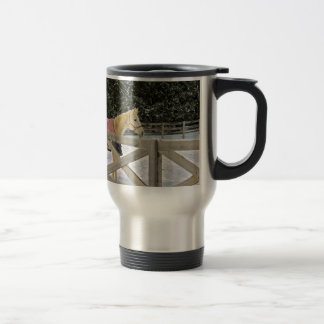 Horse in the snow series 4 travel mug