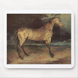 Horse in the storm by Theodore Gericault Mouse Pad