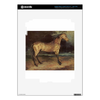 Horse in the storm by Theodore Gericault Skins For iPad 3