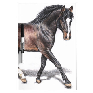 Horse in the Trab - Horse in Motion Dry-Erase Board