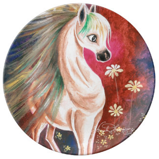 Horse In The Wind Porcelain Plate