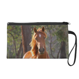 Horse In The Woods Wristlet Clutches