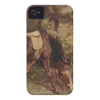 Horse in the Woods by Gustave Courbet iPhone 4 Case