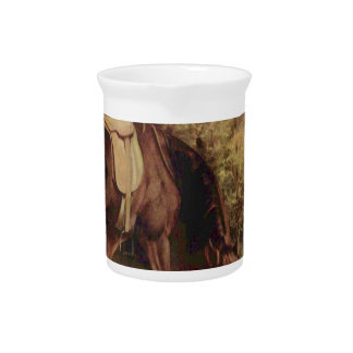 Horse in the Woods by Gustave Courbet Pitcher