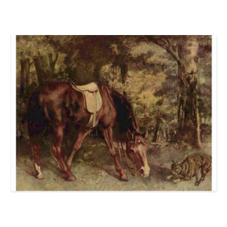 Horse in the Woods by Gustave Courbet Postcard