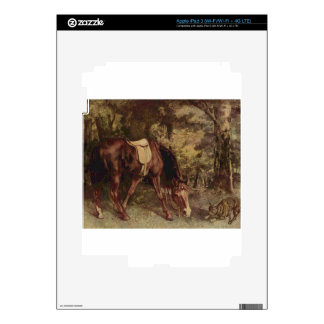 Horse in the Woods by Gustave Courbet Skins For iPad 3