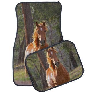 Horse In The Woods Car Floor Mat