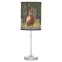 Horse In The Woods Desk Lamp