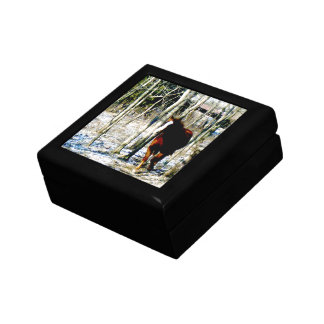 Horse in the woods trinket box