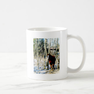 Horse in the woods mugs