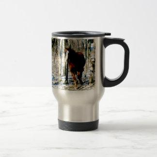 Horse in the woods mug