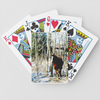 Horse in the woods bicycle playing cards
