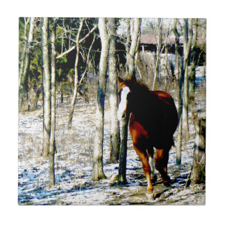 Horse in the woods tiles
