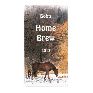 Horse in Winter Beer Label