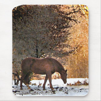 Horse in Winter Mousepad
