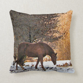 Horse in Winter Pillows