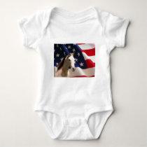 Horse Infant Creeper American Flag