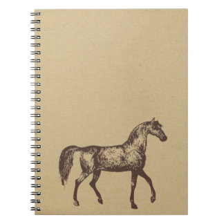 horse ink stamped journal