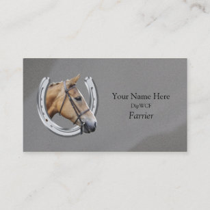 Horseshoeing business cards zazzle horse inside horseshoe logo business card colourmoves