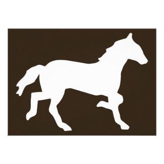 horse personalized invitations