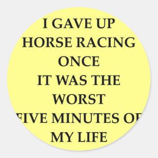 HORSE.jpg Classic Round Sticker