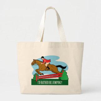 Horse Jump Canvas Bags
