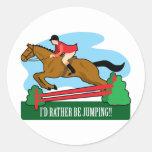 Horse Jump Classic Round Sticker