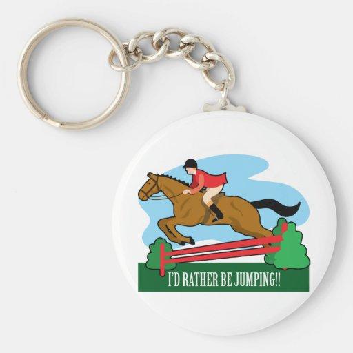 Horse Jump Key Chain